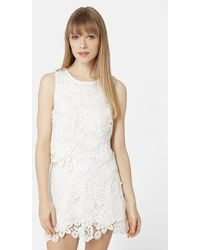 Topshop Crochet Lace Shell Top - Lyst