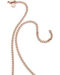 Michael Kors Padlock Charm Necklace Rose Goldclear - Lyst