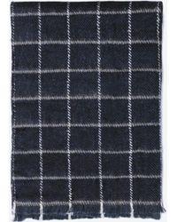 Zara Checked Muffler Scarf - Lyst