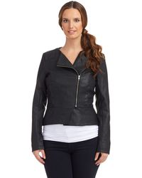 French connection Faux Leather Jacket - Lyst