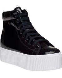 Jeffrey Campbell | Hiya Platform Sneaker Black Patent | Lyst