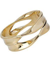 Robert Lee Morris - Spiral Jetty Geometric Cut-out Hinged Bangle Bracelet - Lyst