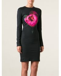 Christopher Kane Peony Print Jersey Dress - Lyst