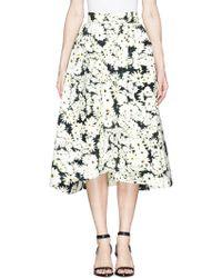 Nicholas Daisy Print Bonded Crepe Midi Skirt multicolor - Lyst