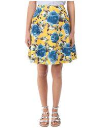 Marc By Marc Jacobs Jerrie Rose Poplin Skirt - Lyst