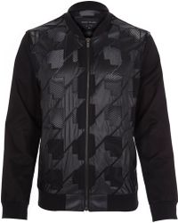 River Island Black Casual Mesh Detail Bomber Jacket - Lyst