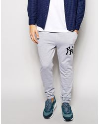 Majestic New York Yankees Skinny Joggers Exclusive To Asos - Lyst