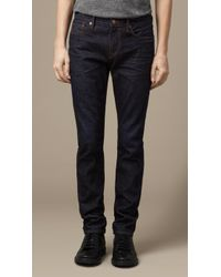 Burberry Slim Fit Resinated Jeans - Lyst
