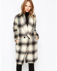 Gat Rimon - Raki Coat In Check - Grey - Lyst