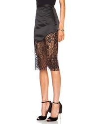 Lover Lotus Pencil Poly Skirt - Lyst
