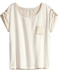 H&M Short-Sleeved Top - Lyst