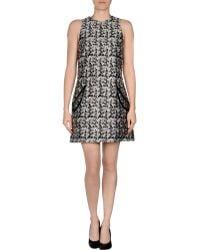 Christopher Kane Gray Short Dress - Lyst