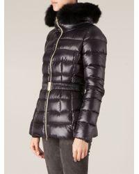 Herno Fur Collar Padded Jacket - Lyst