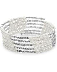 Cara - Faux Pearl And Rhinestone Bracelet - Lyst