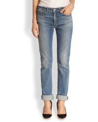 Marc By Marc Jacobs Drainpipe Straight-Leg Jeans - Lyst