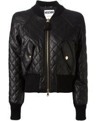 Moschino Black Quilted Jacket - Lyst