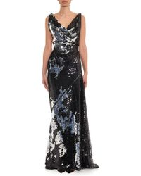 Vivienne Westwood Gold Label Amber Sequin-Embellished Gown black - Lyst