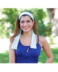 Elizabeth Koh - Light Blue Headband With Tassels - Lyst