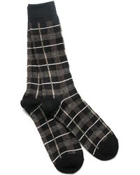 Anonymous Ism | Black Tartan Wool Crew Socks | Lyst