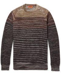 Missoni Striped Woolblend Sweater - Lyst
