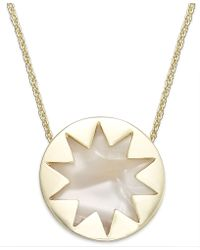 House Of Harlow Gold-tone Imitation Pearl Sunburst Mini Pendant Necklace - Lyst