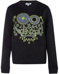KENZO - Black Monster Tool Metallic Cotton Sweatshirt - Lyst