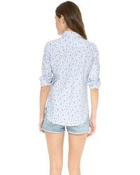 Penfield - Striped Floral Shirt Blue Stripe - Lyst