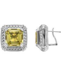 Slane - Voltaire Square Lemon Citrine Earrings - Lyst