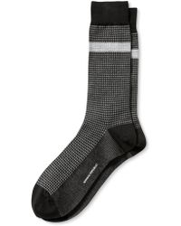 Banana Republic Luxe Houndstooth Boot Sock Black - Lyst
