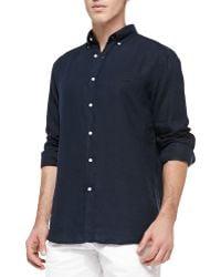 Lacoste Longsleeve Linen Classicfit Shirt - Lyst