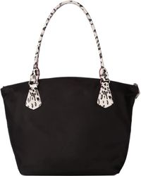 MZ Wallace - Black Bedford With Black Printed Saffiano Leather Chelsea - Lyst