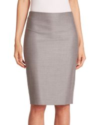 Max Mara Hidesia Wool & Silk Pencil Skirt - Lyst