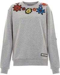 House of Holland Embellished Sweatshirt - Lyst
