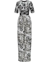 Prabal Gurung Pleated Metallicjacquard Gown - Lyst