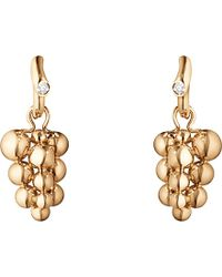 Georg Jensen - Moonlight Grapes 18ct Rose-gold And Diamond Earrings - Lyst