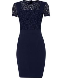 Therapy Lace and Crepe Dress - Lyst