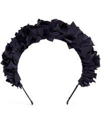 Yunotme - 'flock' Ruffle Silk Headband - Lyst