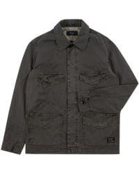 Paul Smith | Men's Dark Green Cotton-twill Field Jacket | Lyst