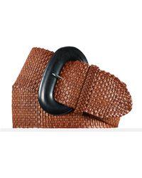 Ralph Lauren Woven Leather Belt - Lyst