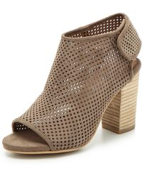 Jeffrey Campbell Quebec Perforated Suede Booties - Grey - Lyst
