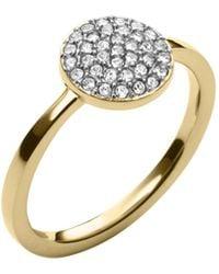Michael Kors Gold Pavé-embellished Ring - Lyst