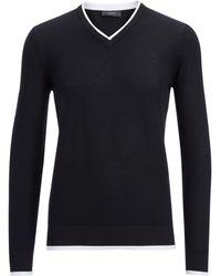 Joseph Basic Cashmere V Sweater In Black - Lyst