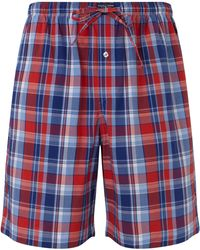 Pink Pony - Polo Plaid Woven Cotton Lounge Shorts - Lyst