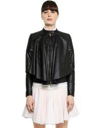 Viktor & Rolf Ruffled Nappa Leather Jacket - Lyst