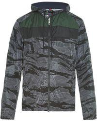 Moncler Cobalt Camouflage-Print Jacket - Lyst