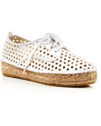 Loeffler Randall Perforated Espadrille Sneakers - Alfie - Lyst