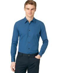 Calvin Klein Slim Fit Check Voile Sport Shirt - Lyst