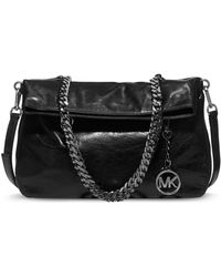 Michael by Michael Kors Lacey Leather Medium Fold Over Tote Bag - Lyst