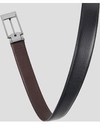 Tumi - Reversible Pebbled Leather Belt - Lyst