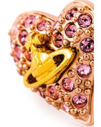 Vivienne Westwood Anglomania - Diamante Heart Stud Earrings - Lyst